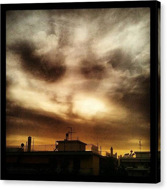Hell Canvas Print - #sky #clouds #sunset #hell #athens by George sneyeper Vlachos
