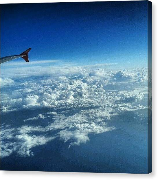 Seas Canvas Print - #sky #cloudy On The Way To #jordan by Abdelrahman Alawwad