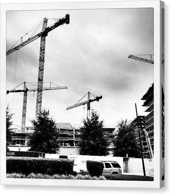 Skycrane Canvas Print - Sky Crane Grove, Urban Renewal by Rob Murray
