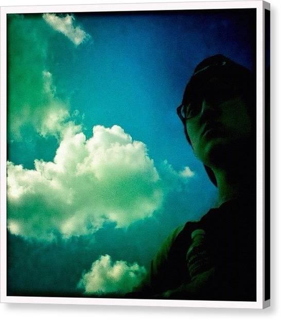 Yen Canvas Print - #sky #dude #guy #hipstamatic #blue by Kee Yen Yeo