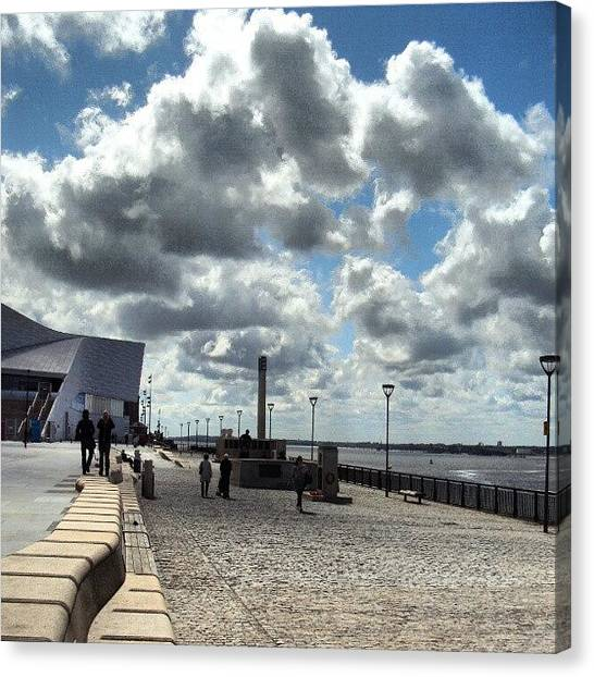 Seas Canvas Print - Sky In Liverpool, This Pic Was Talken by Abdelrahman Alawwad