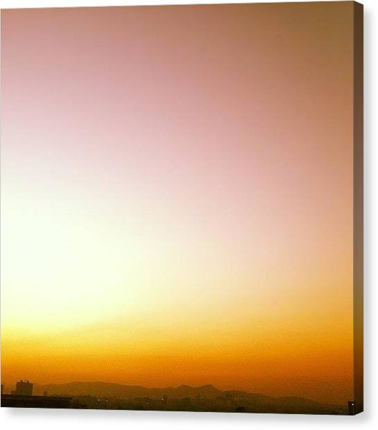 Sunset Horizon Canvas Print - #sky #instagood #iphone4 #iphoneart by Abhijit Patil