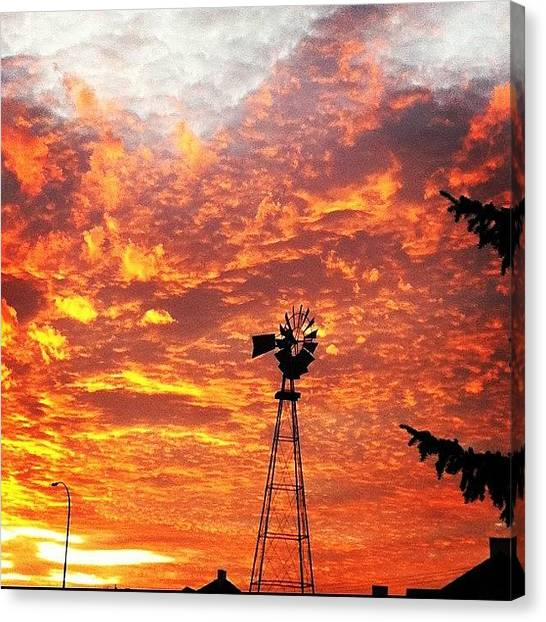 Flames Canvas Print - Sky Is Burning by Ace Morris