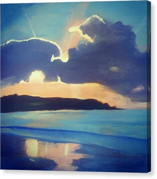 Sky Canvas Print by Kimi Arts