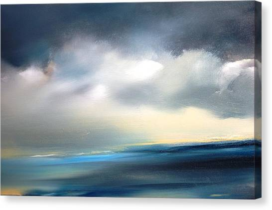 Sky Meets Ocean Canvas Print by Meeli Sonn