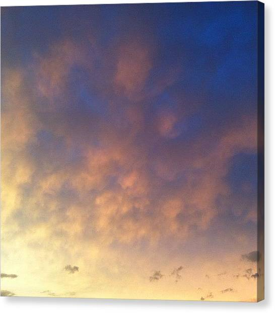 Heaven Canvas Print - #sky  #nofilter #wv #morgantown #wvsky by Cori Mayhew