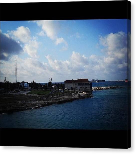 Bahamas Canvas Print - Sky #ocean #water #blue #atlantic by Anthony Sclafani