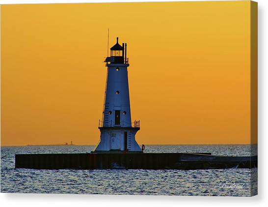 Sky Of Gold Canvas Print by Burland McCormick