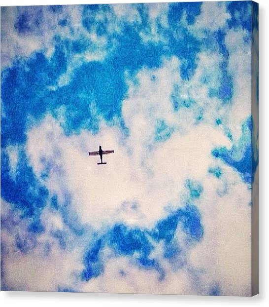 Foxes Canvas Print - #sky #plane #clouds #morning #lookup by Rachel Fox Burson