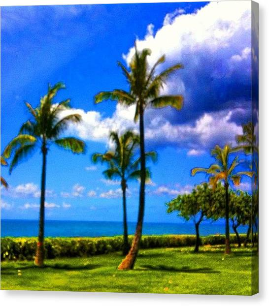 Satellite Canvas Print - #sky #sbx1 #maui #mtg9 #mtgaddicts by Andy Walters