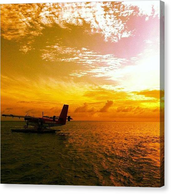 Seaplanes Canvas Print - #sky #sea #skyline #clouds #colours by Mohamed Shafy