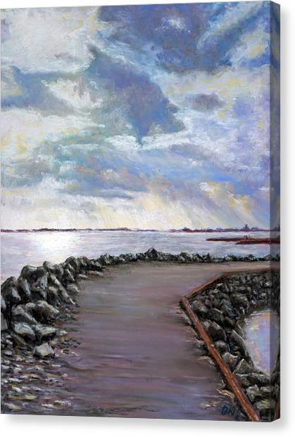 Sky Shore A Canvas Print by Peter Jackson