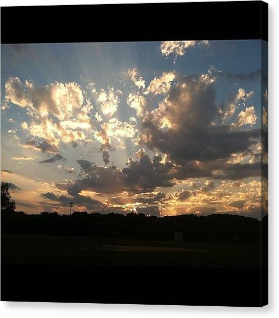 Jerseys Canvas Print - #sky #sun #sunset #skyporn #sun by Cai King-Young