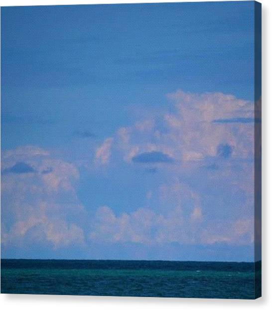 Wisconsin Canvas Print - #sky #water #lake #lakemichigan #clouds by Sabrina Raber