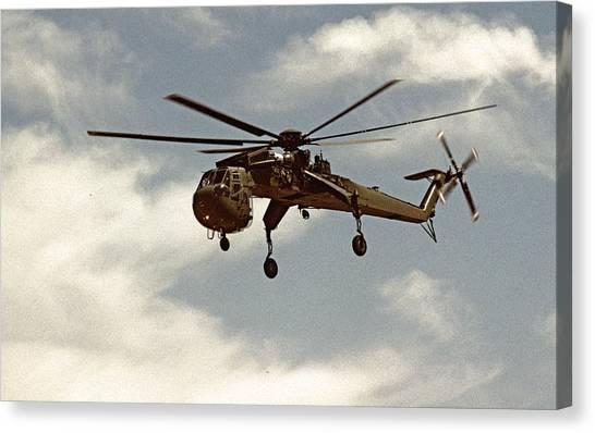 Skycrane Canvas Print - Skycrane Ch-54 by BuffaloWorks Photography