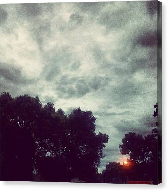 Minnesota Canvas Print - #skyporn #sky #gray #cloudy #dark by Gina Marie