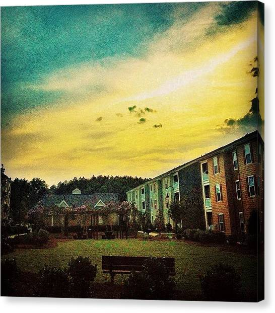Yellow Canvas Print - #skyscape #cloudscape #cloudysky #sky by Katie Williams