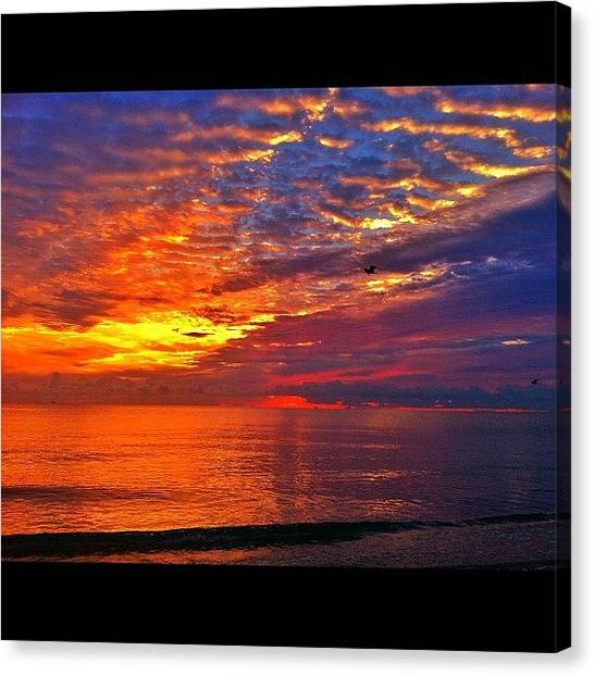 Beach Sunrises Canvas Print - #skystyle_gf #sunsethunter #wildnature by Alexandr Dobrovan