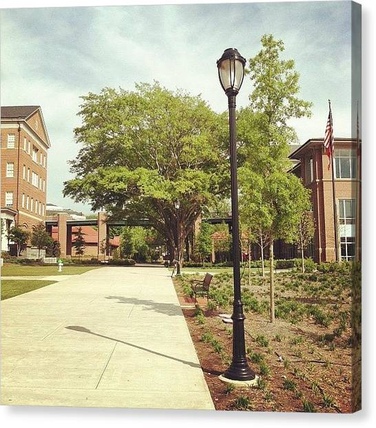 College Canvas Print - Slc At Uga by Erin Egan