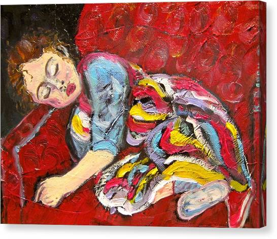 Sleeping Beauty Serenity Canvas Print
