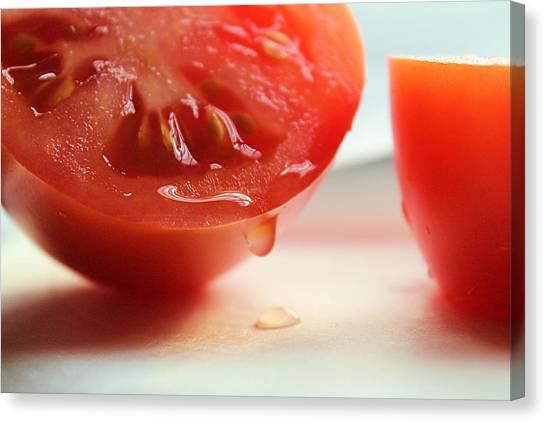 Sliced Tomato Canvas Print
