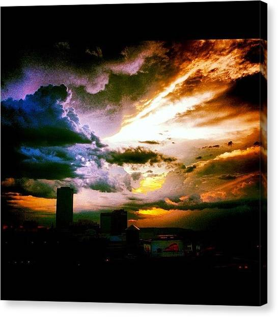 Arkansas Canvas Print - Slow Burn by Roger Snook