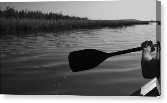Slow Paddle Canvas Print