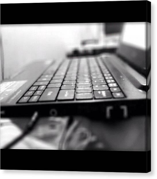 Keyboards Canvas Print - #slr #blur #bored #tiltshift by Armando Maldonado
