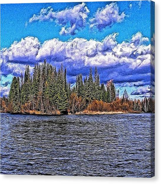 Russia Canvas Print - Small Lake In The Forest. #trees #water by Igor Che 💎