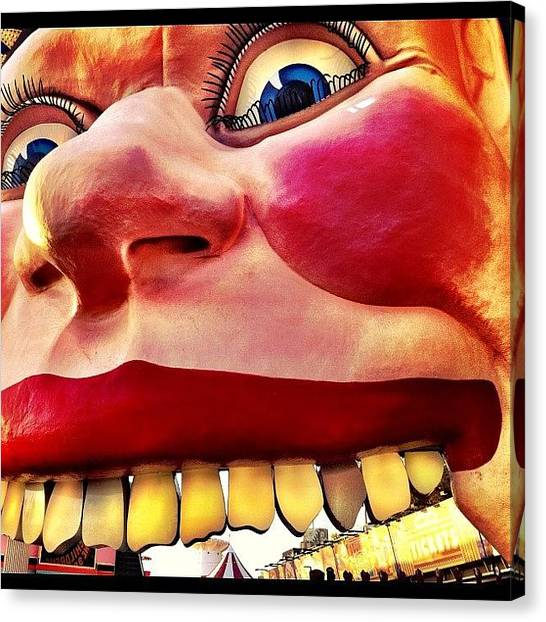 Teeth Canvas Print - Smile by Adam Davies