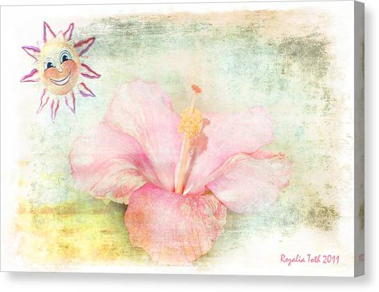 Smiling Sunny Day Canvas Print by Rozalia Toth