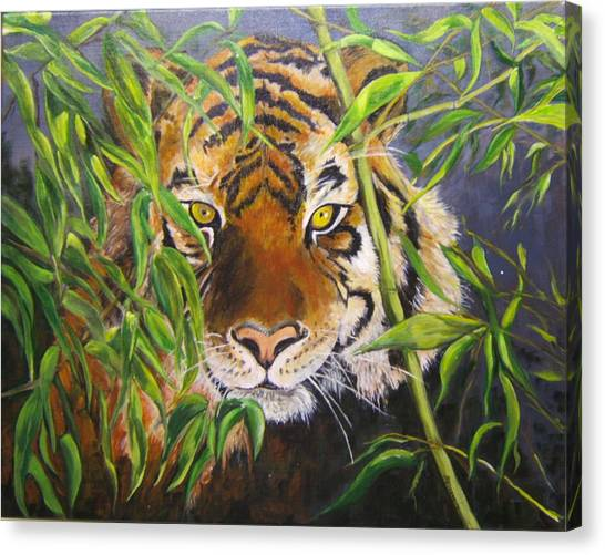 Smiling Tiger Canvas Print