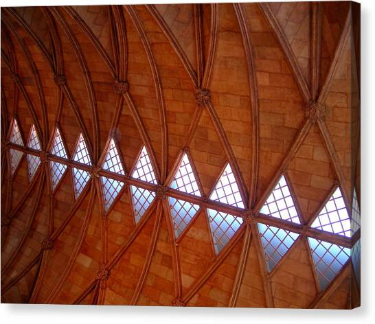 Smithsonian Institute Canvas Print - Smithsonian Castle Ceiling by Sheila Rodgers