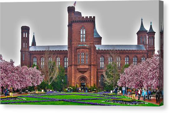 Smithsonian Institute Canvas Print - Smithsonian Castle by Jack Schultz