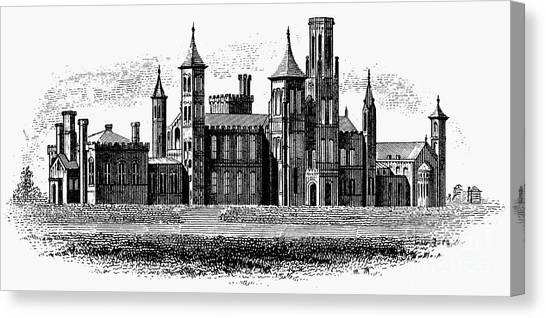 Smithsonian Institute Canvas Print - Smithsonian Institution by Granger