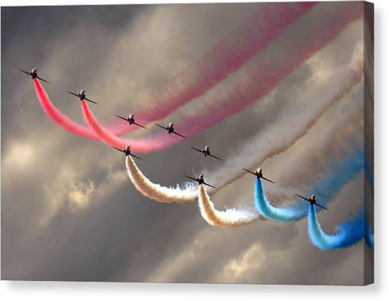 Smoke Swirls Canvas Print