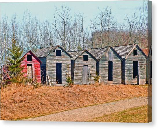 Smokehouse Row Canvas Print