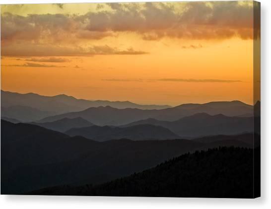 Smokey Sunset 1 Canvas Print