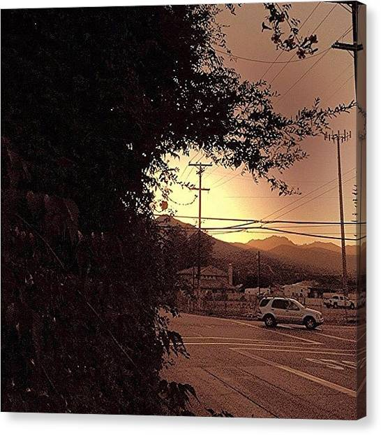 Firefighters Canvas Print - Smokey Sunset On The Rez!!. #cali by Jim Neeley