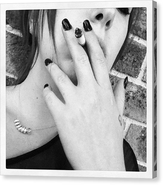 Tools Canvas Print - #smoking #smoke #cigarette #justme #me by Sierra Kay
