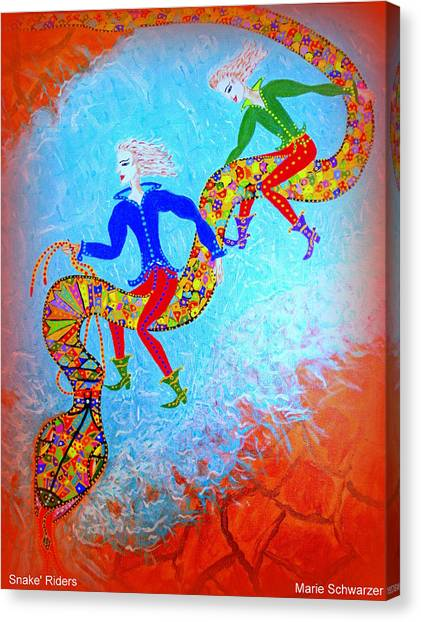 Snake's Riders Canvas Print