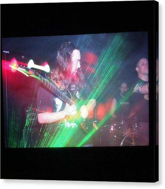 Guitars Canvas Print - Sneak Peek At The Turbulence Gig! #rock by Mike Hayford
