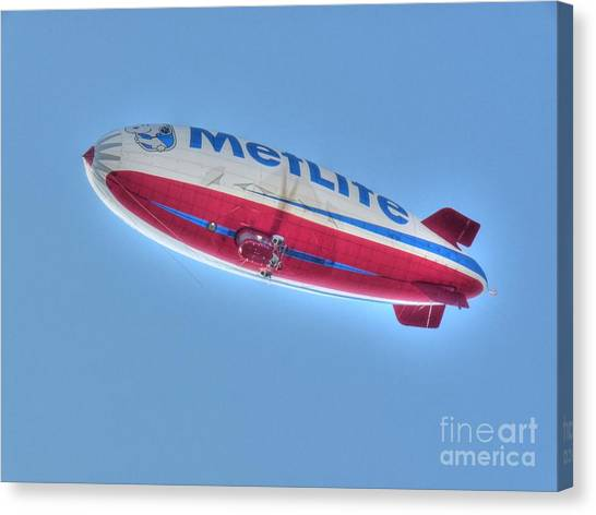 Blimps Canvas Print - Snoopy Two by David Bearden