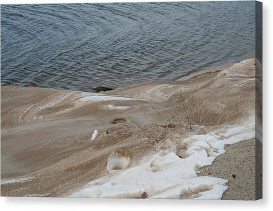 Snow At The Beach Canvas Print