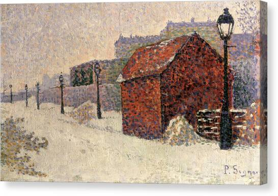 Pointillism Canvas Print - Snow Butte Montmartre by Paul Signac
