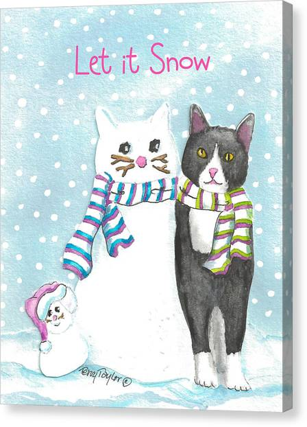 Snow Cats Canvas Print