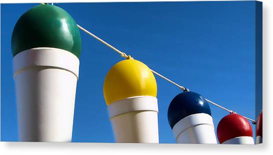Snow Cones On A Rope Canvas Print by Tony Grider