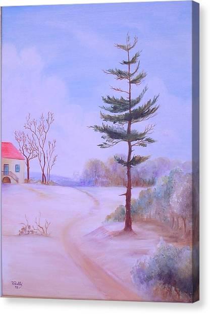 Snow Canvas Print by Nabil Wehbe