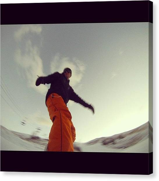 Snowboarding Canvas Print - #snow #snowboarding #sports #awesome by Cesar D Romero