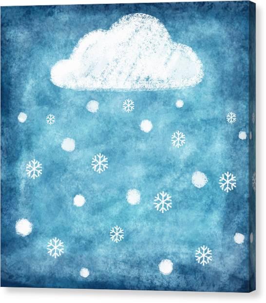 Pattern Canvas Print - Snow Winter by Setsiri Silapasuwanchai